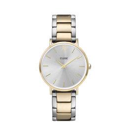 Cluse Cluse Uhr Minuit 3-Link gold-silber