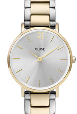 Cluse Cluse Uhr Miniuit gold-silber I Edelstahl 3-Link gold-silber