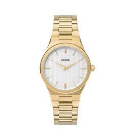 Cluse Cluse Uhr Vigoureux H-Link gold-schneeweiß