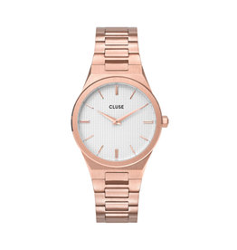 Cluse Cluse Uhr Vigoureux H-Link roségold-schneeweiß