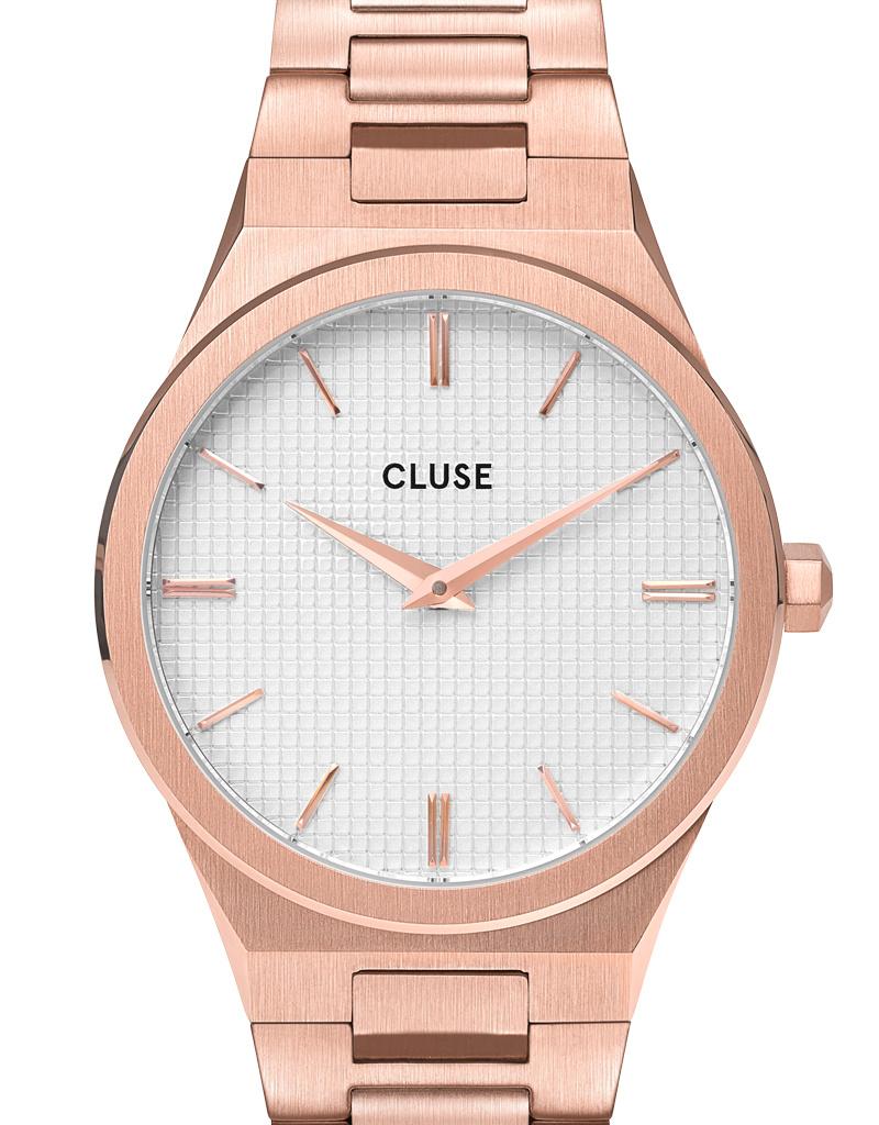 Cluse Cluse Uhr Vigoureux roségold-schneeweiß I Edelstahl H-Link