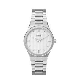 Cluse Cluse Uhr Vigoureux H-Link silber-schneeweiß