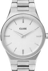 Cluse Cluse Uhr Vigoureux silber-schneeweiß I Edelstahl H-Link silber