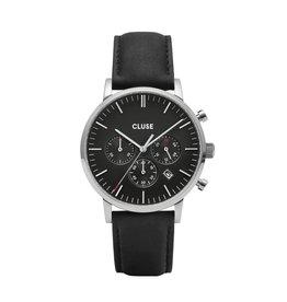 Cluse Cluse Uhr Aravis Chrono schwarz