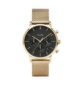 Cluse Cluse Uhr Aravis Chrono gold-schwarz