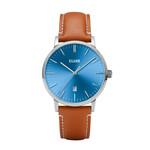 Cluse Cluse Uhr Aravis hellbraun-blau