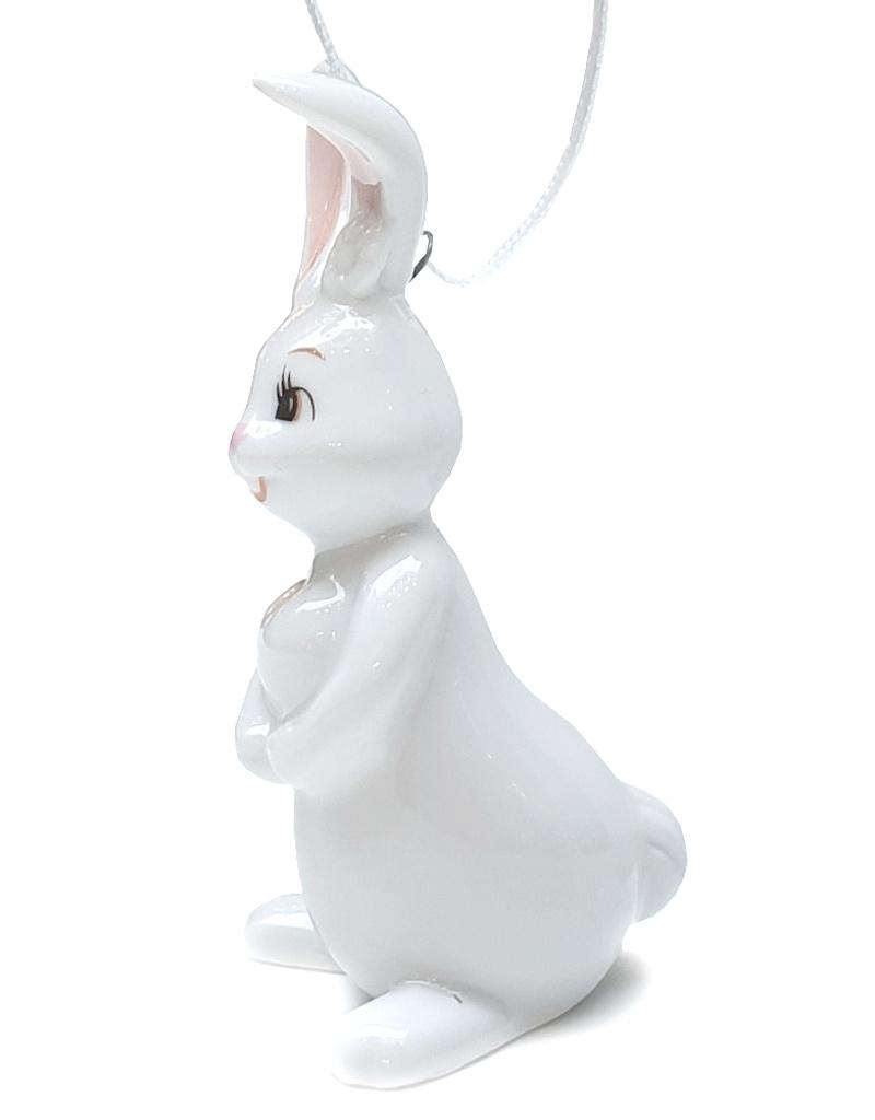 Goebel Porzellanmanufaktur Snow White Osterhase I Hängehase mit Herz I Goebel Porzellan