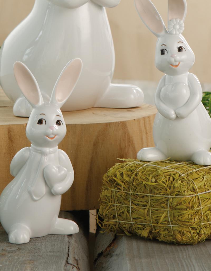 Goebel Porzellanmanufaktur Snow White Osterhase I Hängehase weiß I Goebel Porzellan