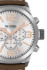 TW Steel Uhren im Sale TW Steel Uhr MC11 I 42 mm I Chronograph I silber-braun