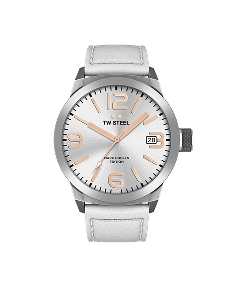 TW Steel Uhren im Sale TW Steel Uhr MC21 I 45 mm I silber - weiß - kupfer