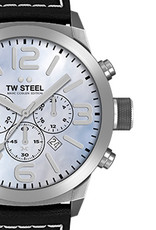 TW Steel Uhren im Sale TW Steel Uhr MC34 I 45 mm I Chronograph I hellblau-schwarz