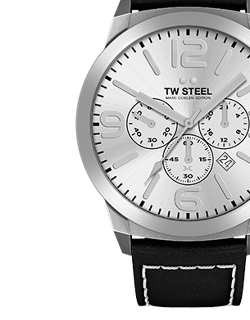 TW Steel Uhren im Sale TW Steel Uhr MC35 I 45 mm I Chronograph I silber-schwarz
