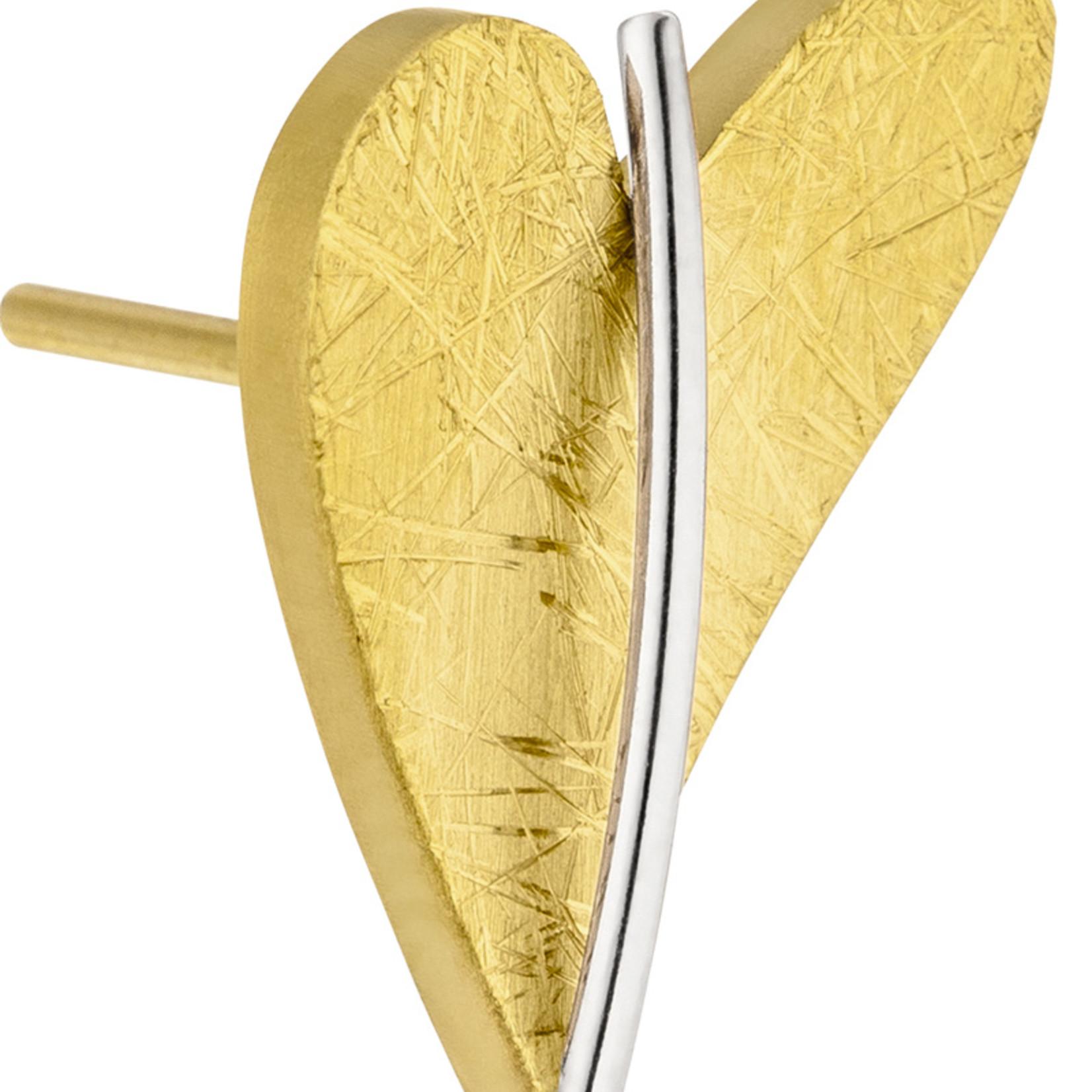 Ernstes Design Stahlschmuck Ohrstecker E245 Herz I Ernstes Design I Edelstahl gelbgold