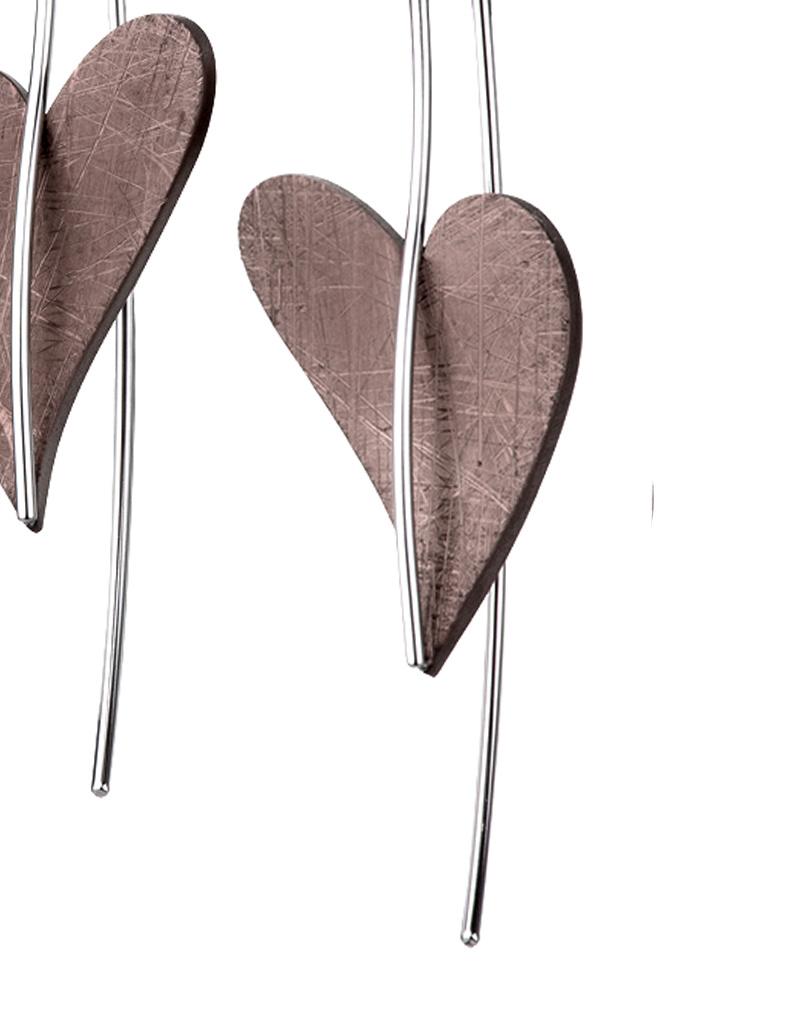 Ernstes Design Stahlschmuck Ohrhänger E301 Herz I Ernstes Design I Edelstahl bronze