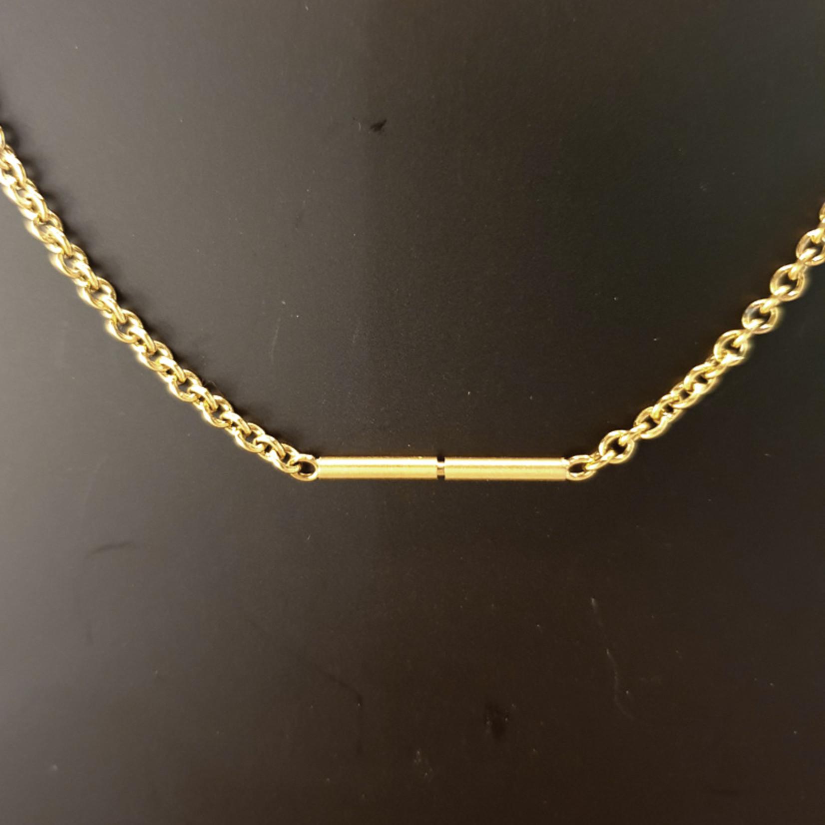 Ernstes Design Stahlschmuck Kette AK13, 45 cm I Ernstes Design I Edelstahl gelbgold I Ankerkette