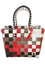 ICE BAG Taschen ICE BAG Shopper 5010-25 I Witzgall Tasche Klassik I rot-weiß-braun
