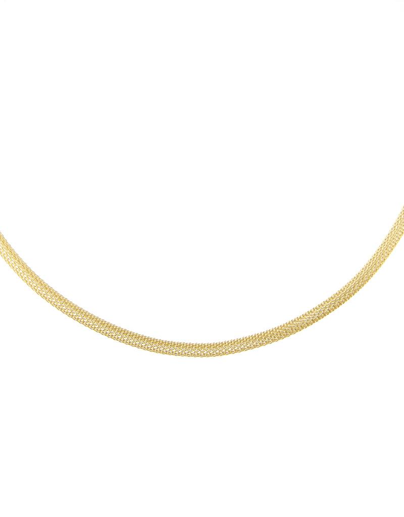 Ernstes Design Stahlschmuck Kette AK34, 50 cm I Ernstes Design I Edelstahl gelbgold I Strickkette