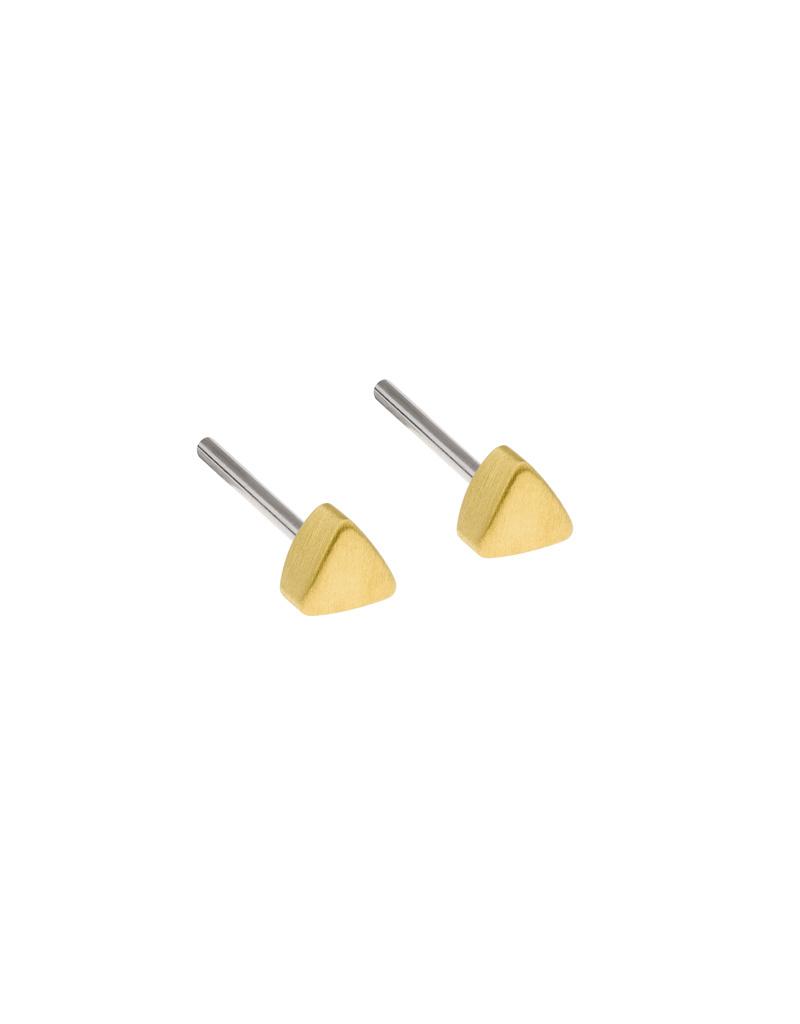 Ernstes Design Stahlschmuck Ohrstecker E413 I Ernstes Design I 3 mm I Edelstahl matt gold