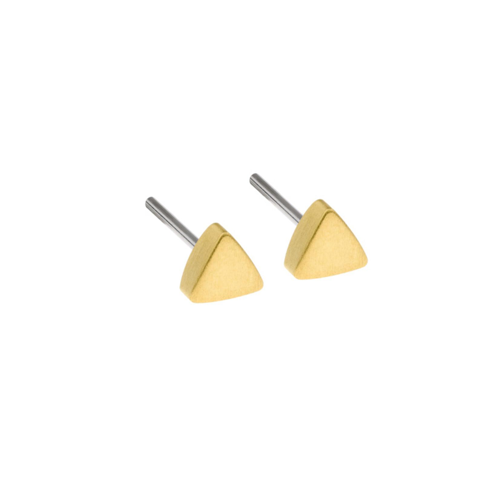 Ernstes Design Stahlschmuck Ohrstecker E414 I Ernstes Design I 4 mm I Edelstahl matt gold