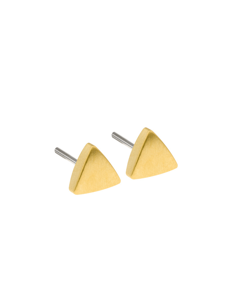 Ernstes Design Stahlschmuck Ohrstecker E416 I Ernstes Design I 6 mm I Edelstahl matt gold