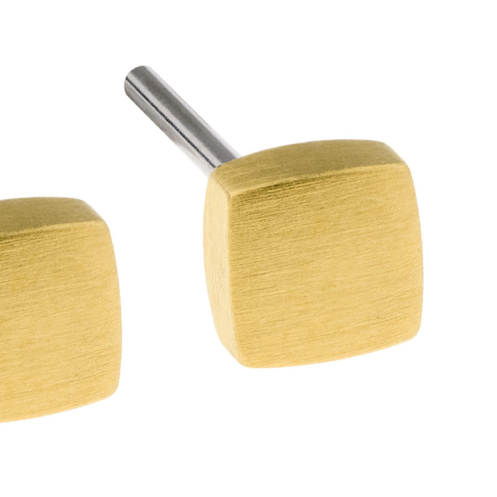 Ernstes Design Stahlschmuck Ohrstecker E434 I Ernstes Design I 4 mm I Edelstahl gold