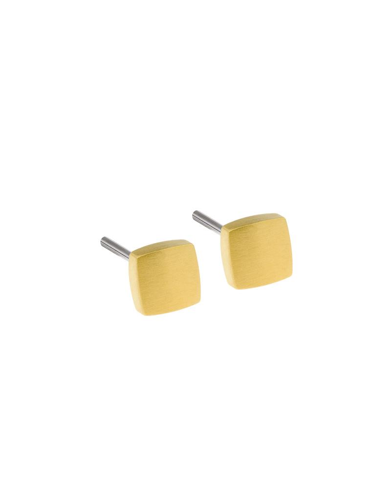 Ernstes Design Stahlschmuck Ohrstecker E435 I Ernstes Design I 5 mm I Edelstahl gold