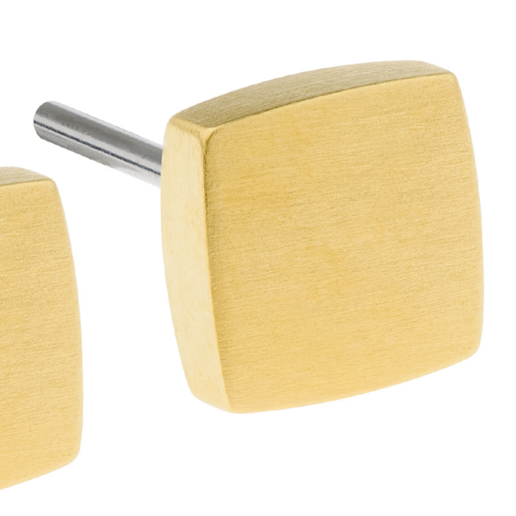 Ernstes Design Stahlschmuck Ohrstecker E436 I Ernstes Design I 6 mm I Edelstahl gold