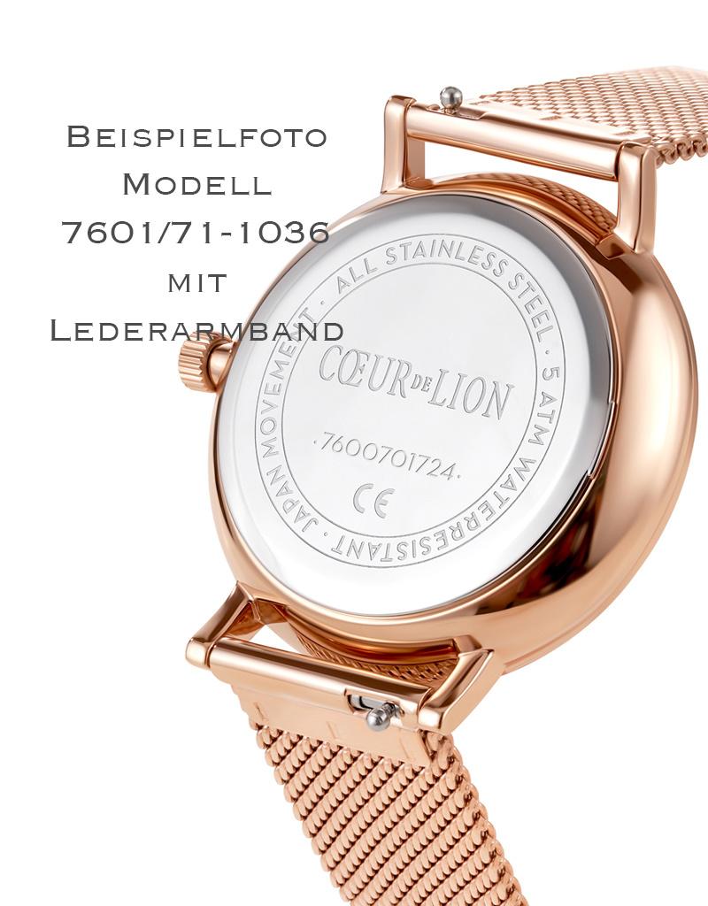 Coeur de Lion Uhr 7601/70-1036 I Edelstahl roségold I Lederarmband taupe