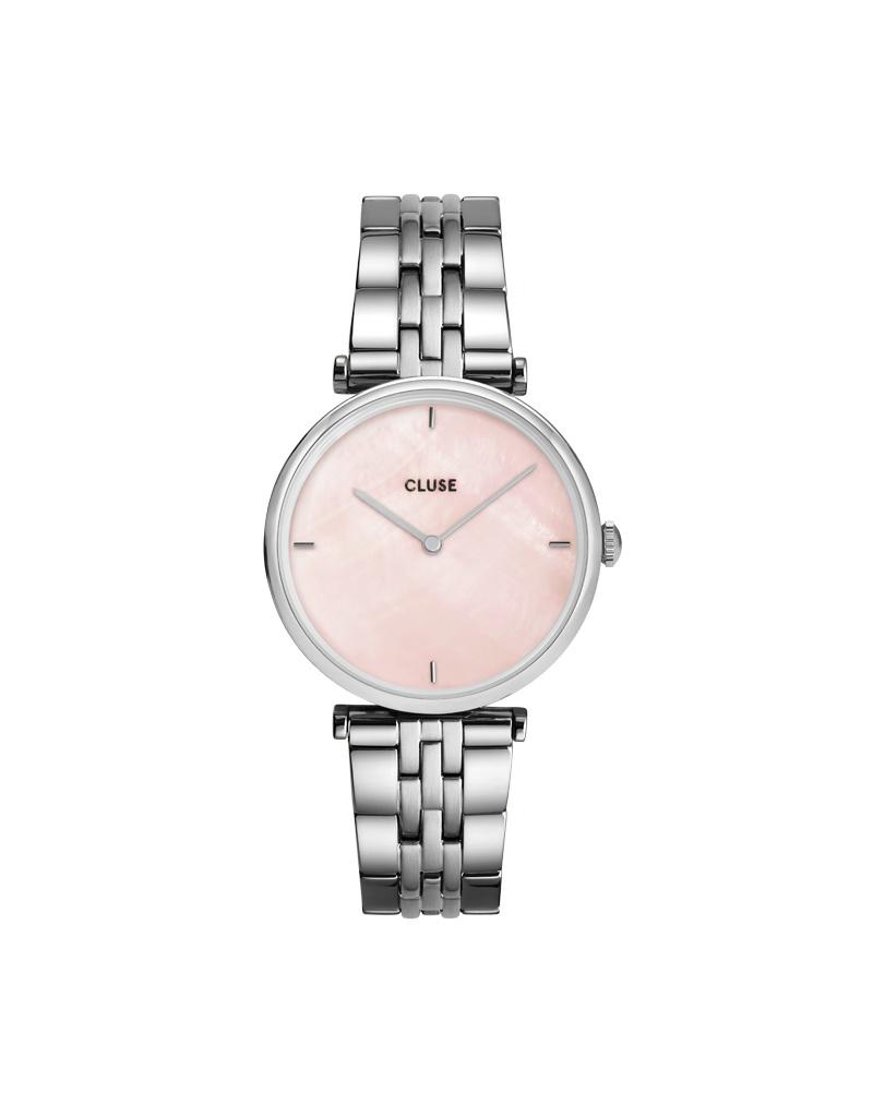 Cluse Cluse Uhr Triomphe silber-pink pearl I Edelstahl 5-Link