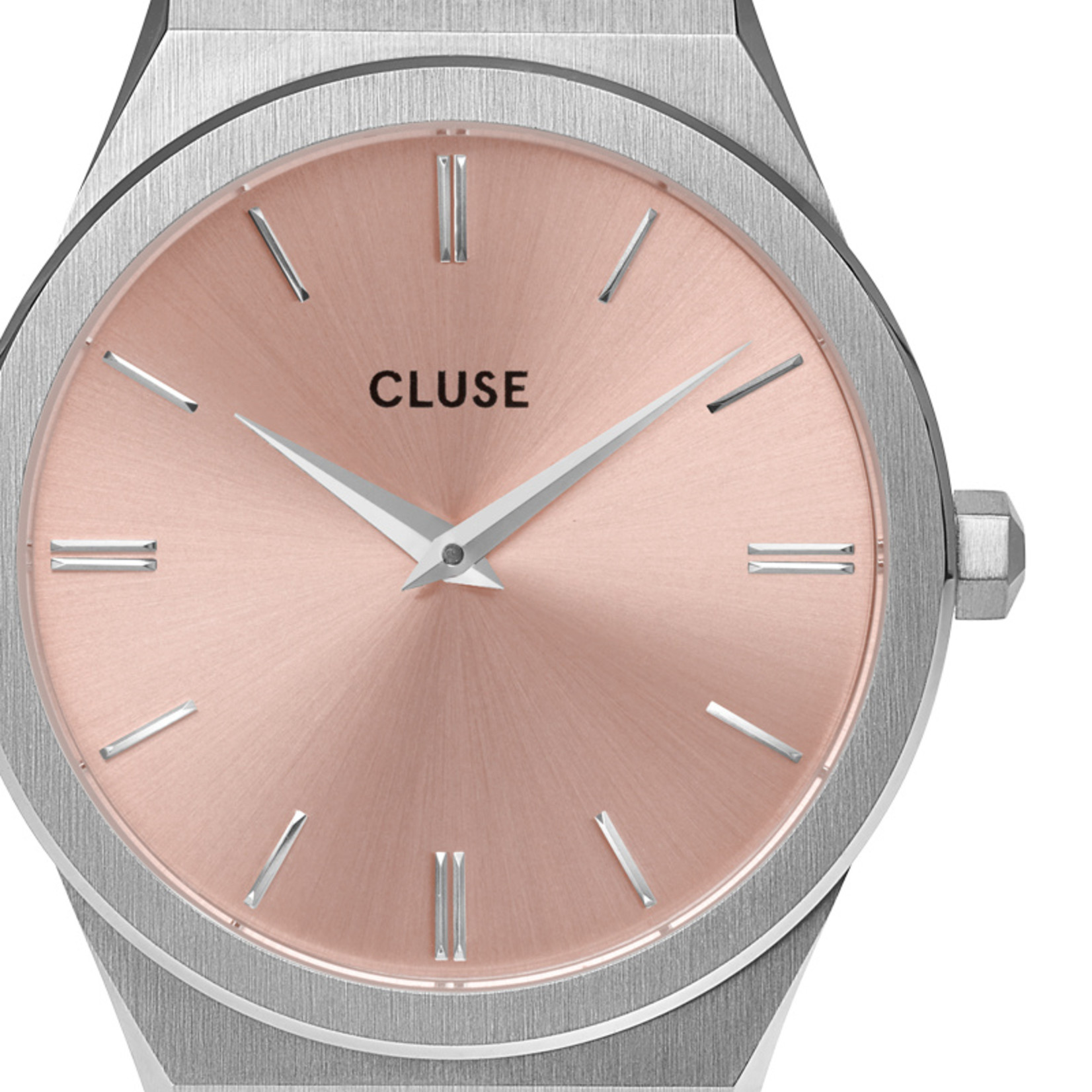Cluse Cluse Uhr Vigoureux by Katharina I Edelstahl I silber-rosa