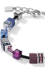 Coeur de Lion Armband 2838/30-1578 I multicolor art nouveau I GeoCUBE® Würfel