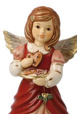 "Goebel Porzellanmanufaktur Engel ""Süße Leckereien"" mit Lebkuchen I bordeaux I Goebel Porzellan"