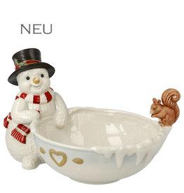 Goebel Porzellanmanufaktur Schneemann mit Schale