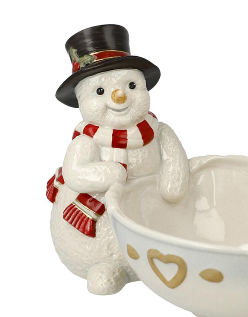 Goebel Porzellanmanufaktur Schneemann mit Schale I Weihnachtliche Leckereien I Goebel