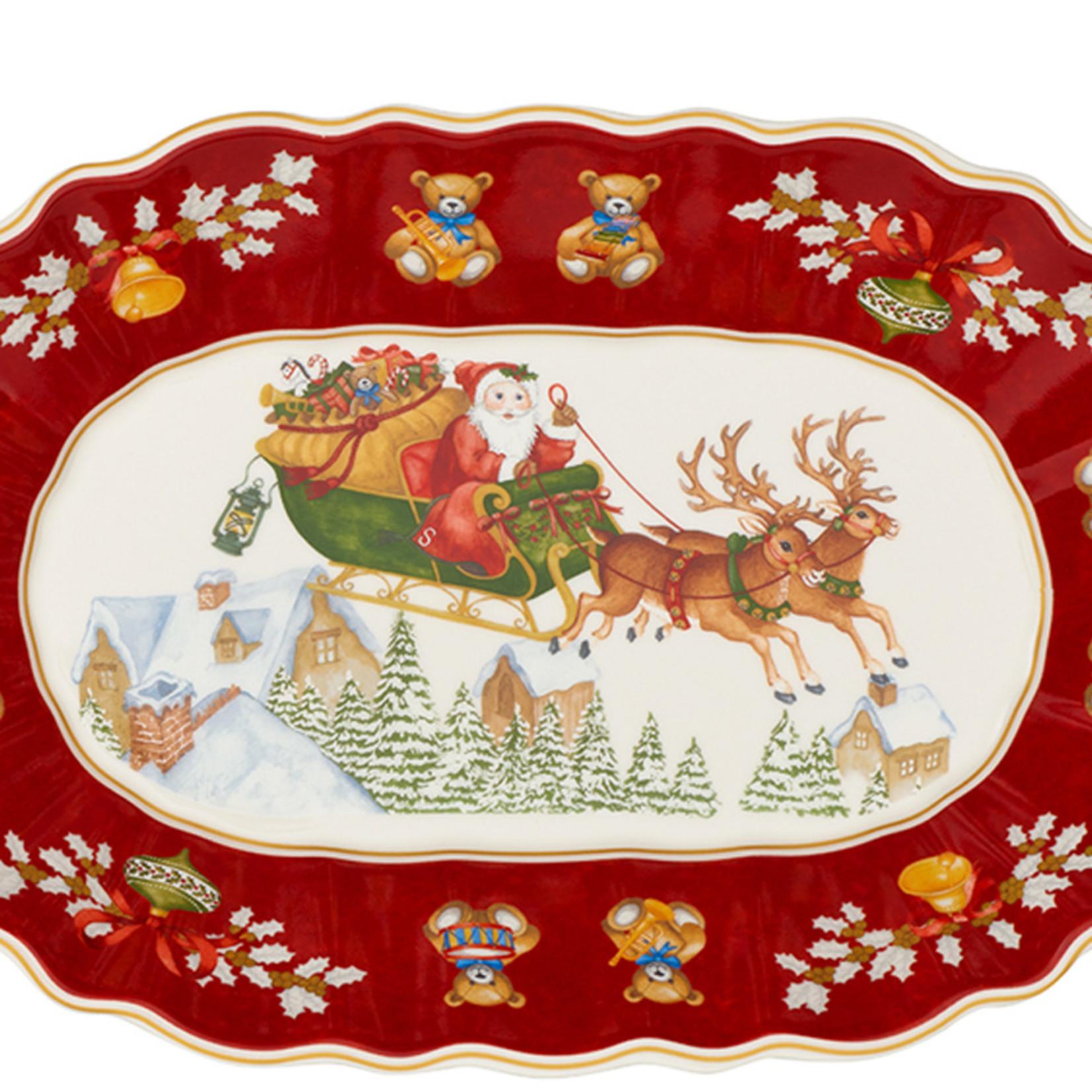 Villeroy & Boch  Villeroy & Boch Schale, oval I Toy´s Fantasy I Santa + Schlitten