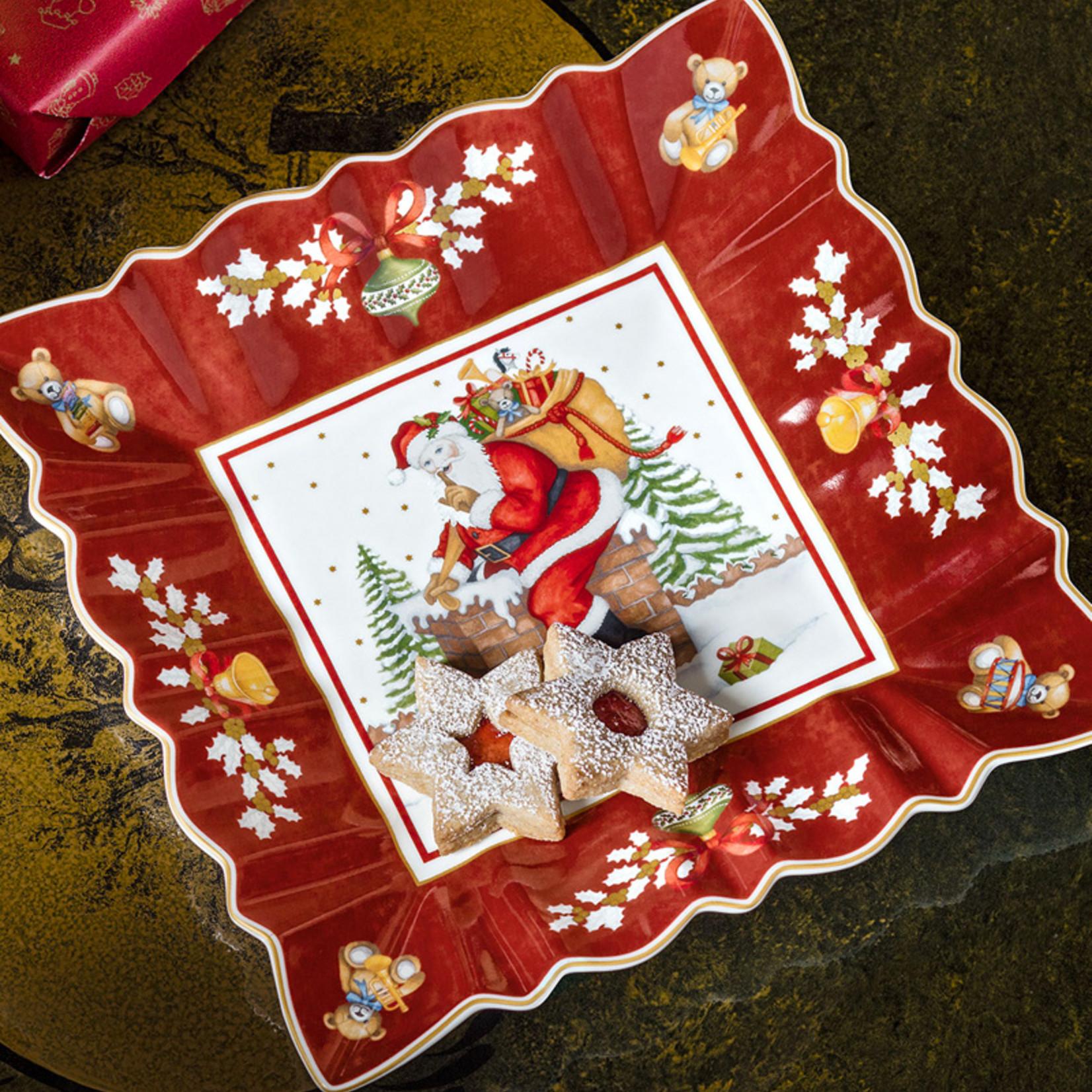 Villeroy & Boch  Villeroy & Boch Schale, eckig I Toy´s Fantasy I Santa auf Dach