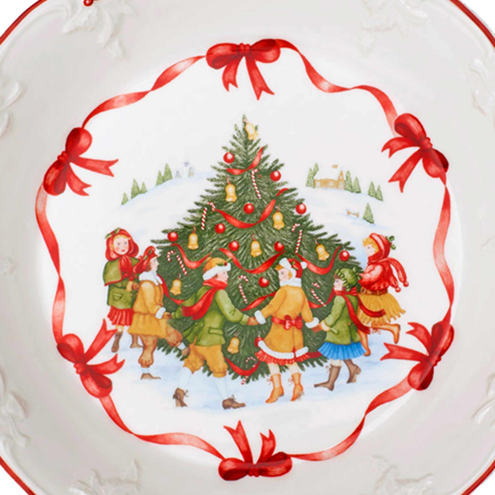 Villeroy & Boch  Villeroy & Boch Schale | Toy´s Fantasy  Kinder am Weihnachtsbaum