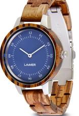 Laimer Holzuhren Laimer Holzuhr Esme 33 mm I Laimer Uhr aus Zebrano Holz
