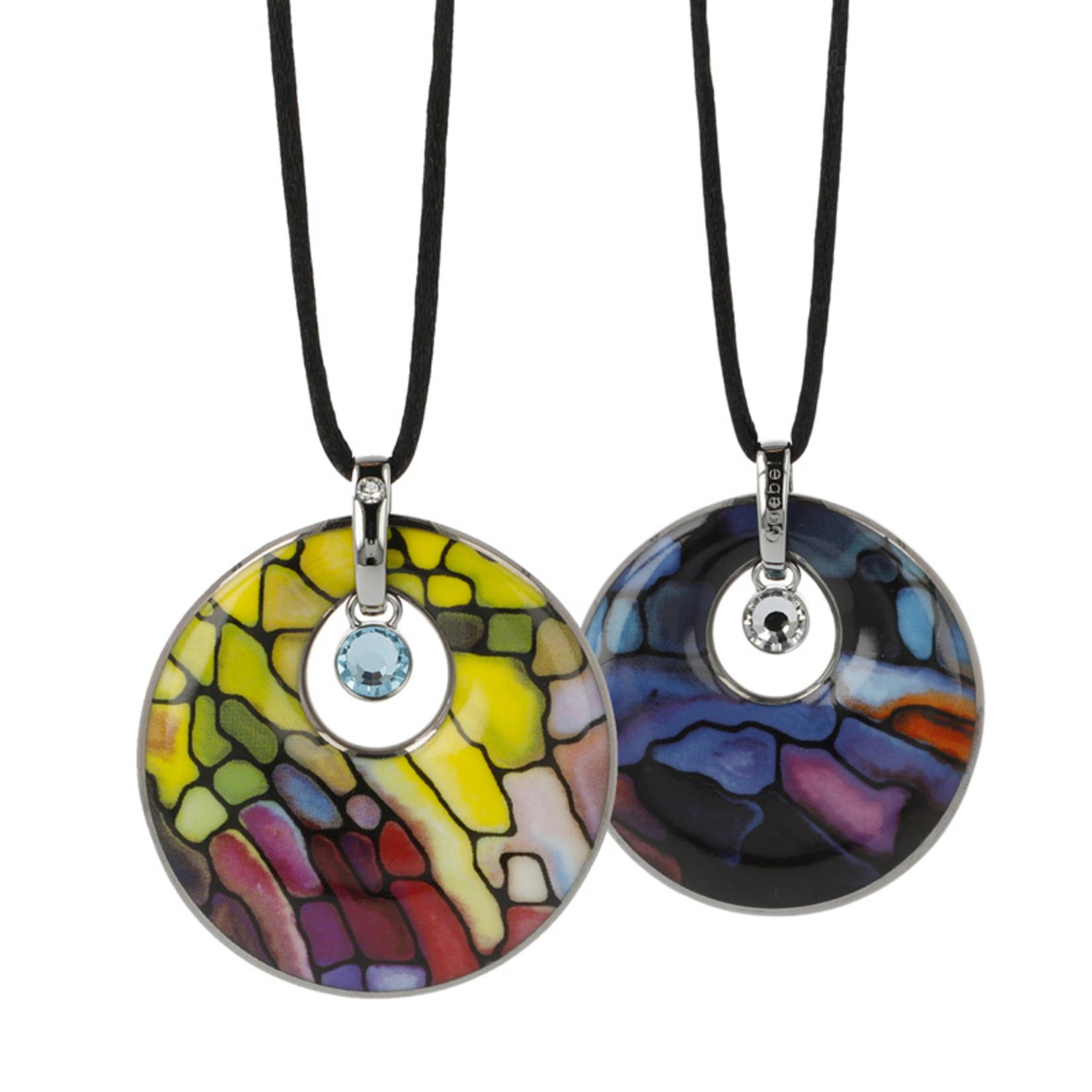 Goebel Porzellanmanufaktur Kette Mosaik IV I Goebel I Künstlerkette I gelb-rot-blau