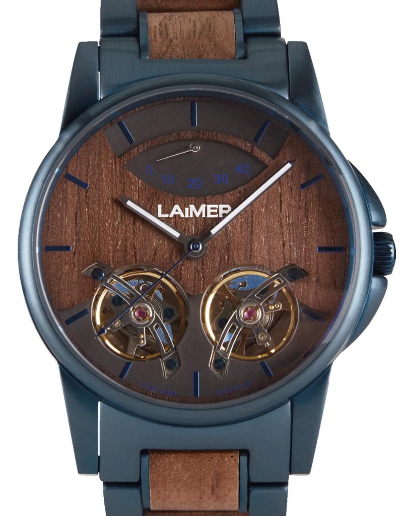 Laimer Holzuhren Laimer Holzuhr Alexander 43 mm I Automatik Uhr I Walnussholz