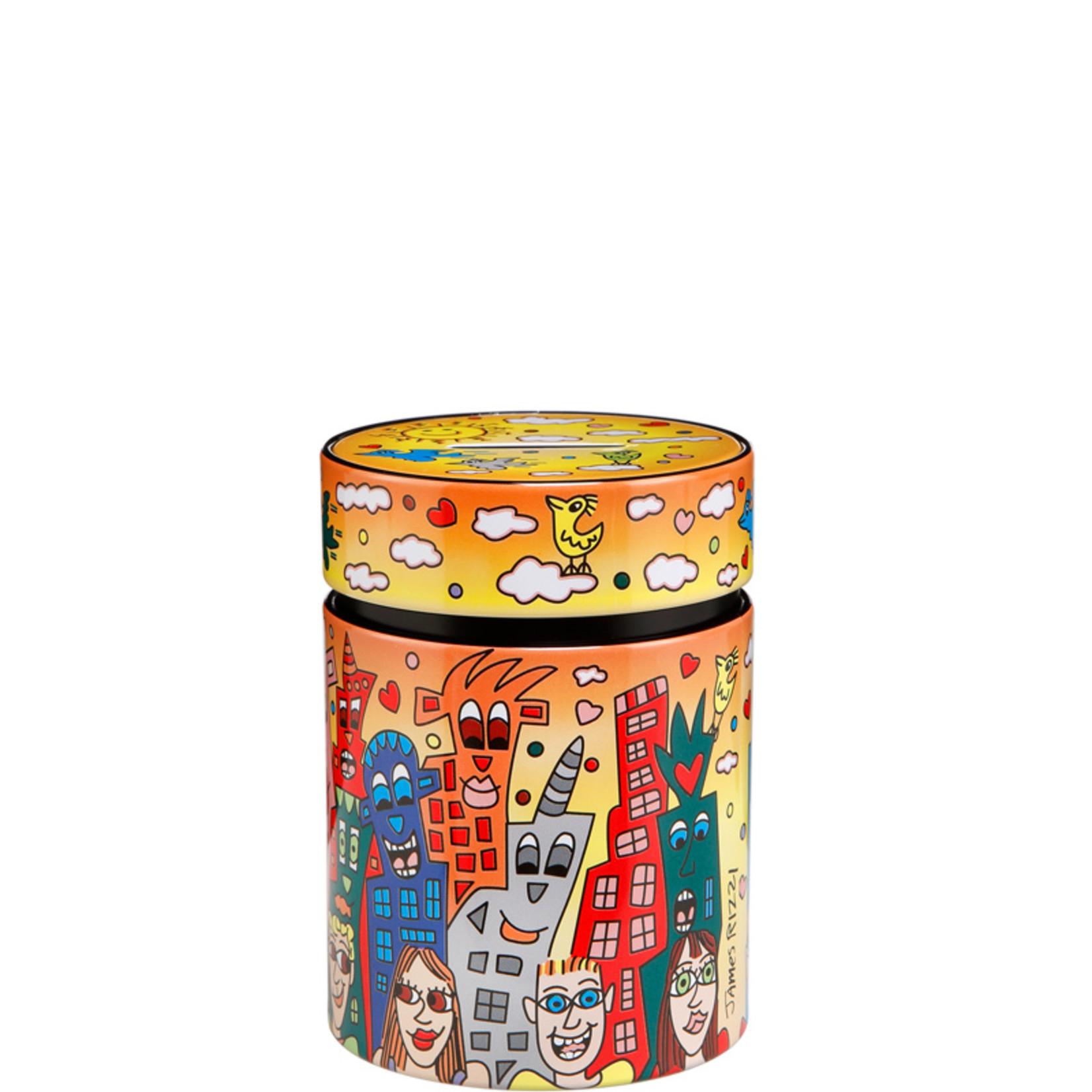 Goebel Porzellanmanufaktur Spardose City of Romance | James Rizzi | Goebel Porzellan | Metall