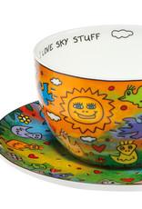 Goebel Porzellanmanufaktur Tasse mit Unterteller I Love Sky Stuff | James Rizzi | Goebel