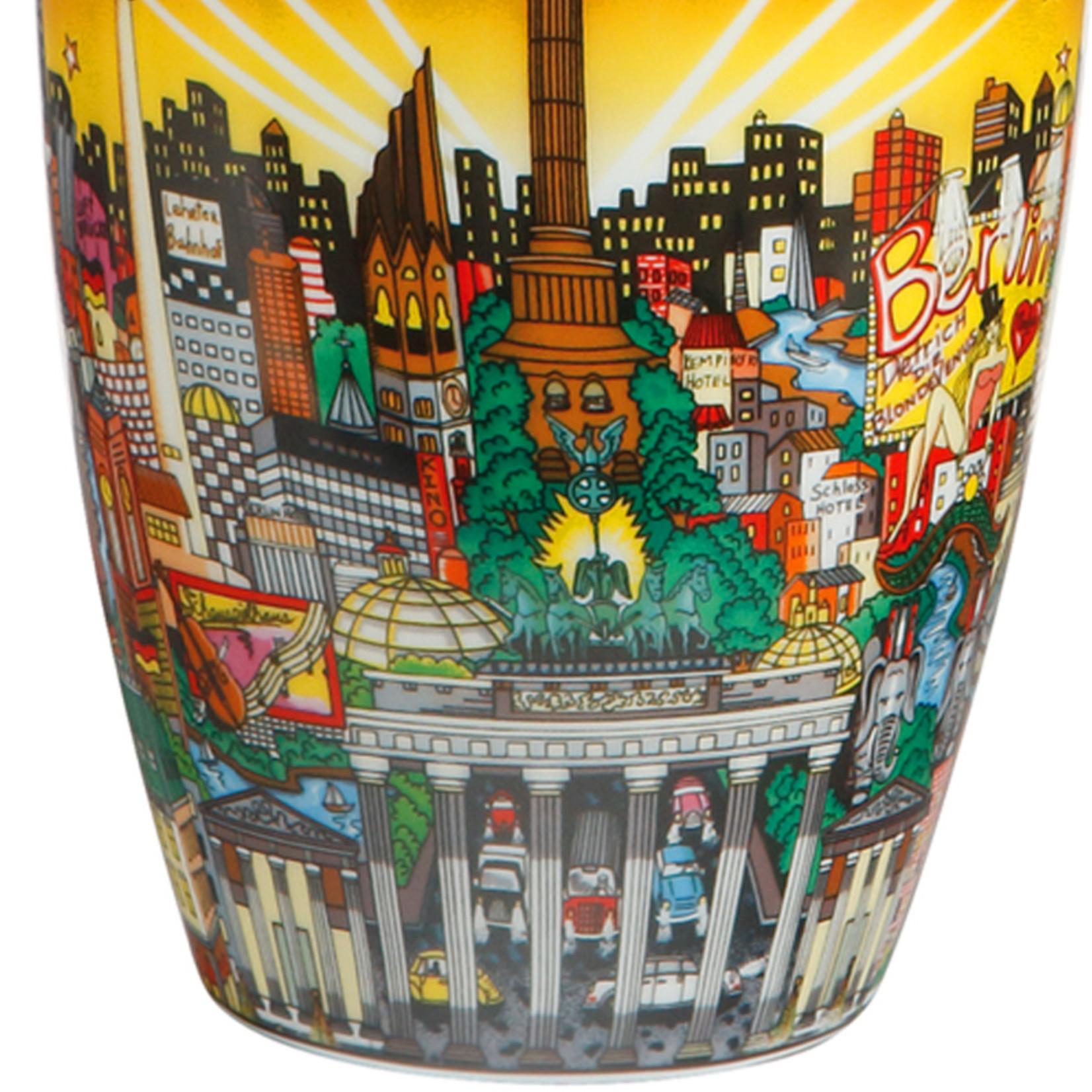 Goebel Porzellanmanufaktur Vase My Berlin, Your Berlin | Charles Fazzino | Goebel Porzellan