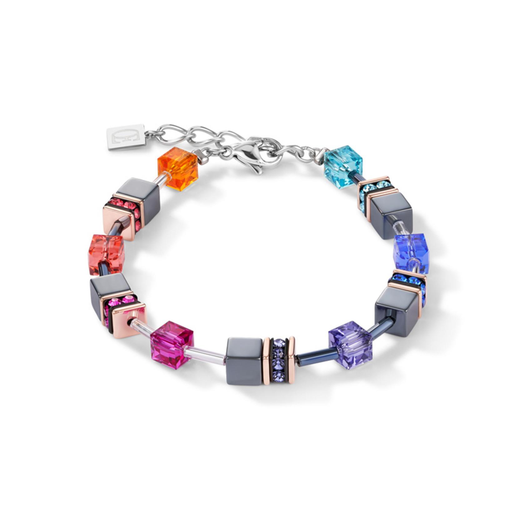 Coeur de Lion Schmuck Armband 4015/30-1500 | multicolor | GeoCUBE® Würfel