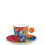 Goebel Porzellanmanufaktur Espressotasse Spring Elephant -  R. Britto