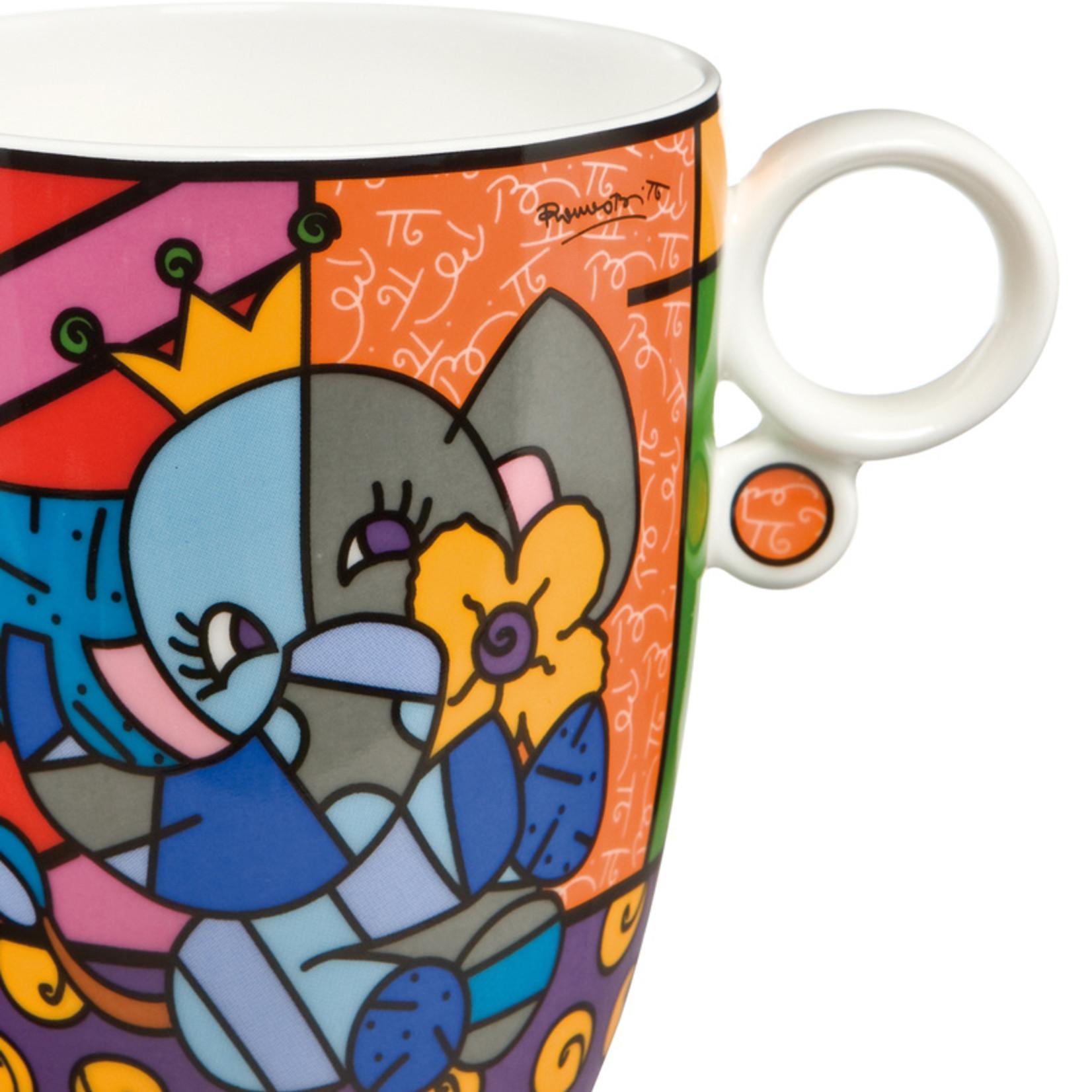Goebel Porzellanmanufaktur Kaffeebecher Spring Elephant | Romero Britto | Goebel Porzellan