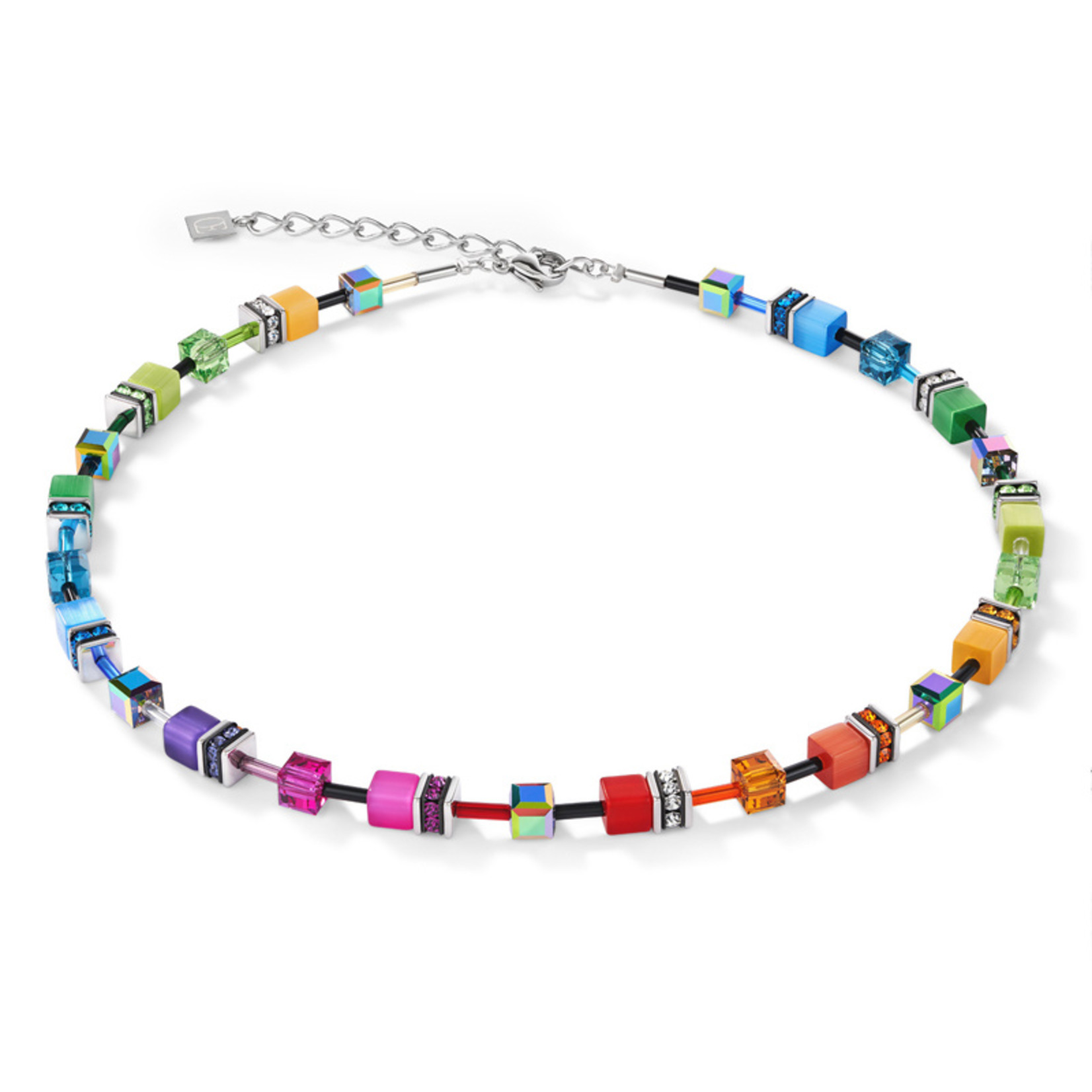 Coeur de Lion Schmuck Collier 2838/10-1520 | multicolor rainbow | GeoCUBE®