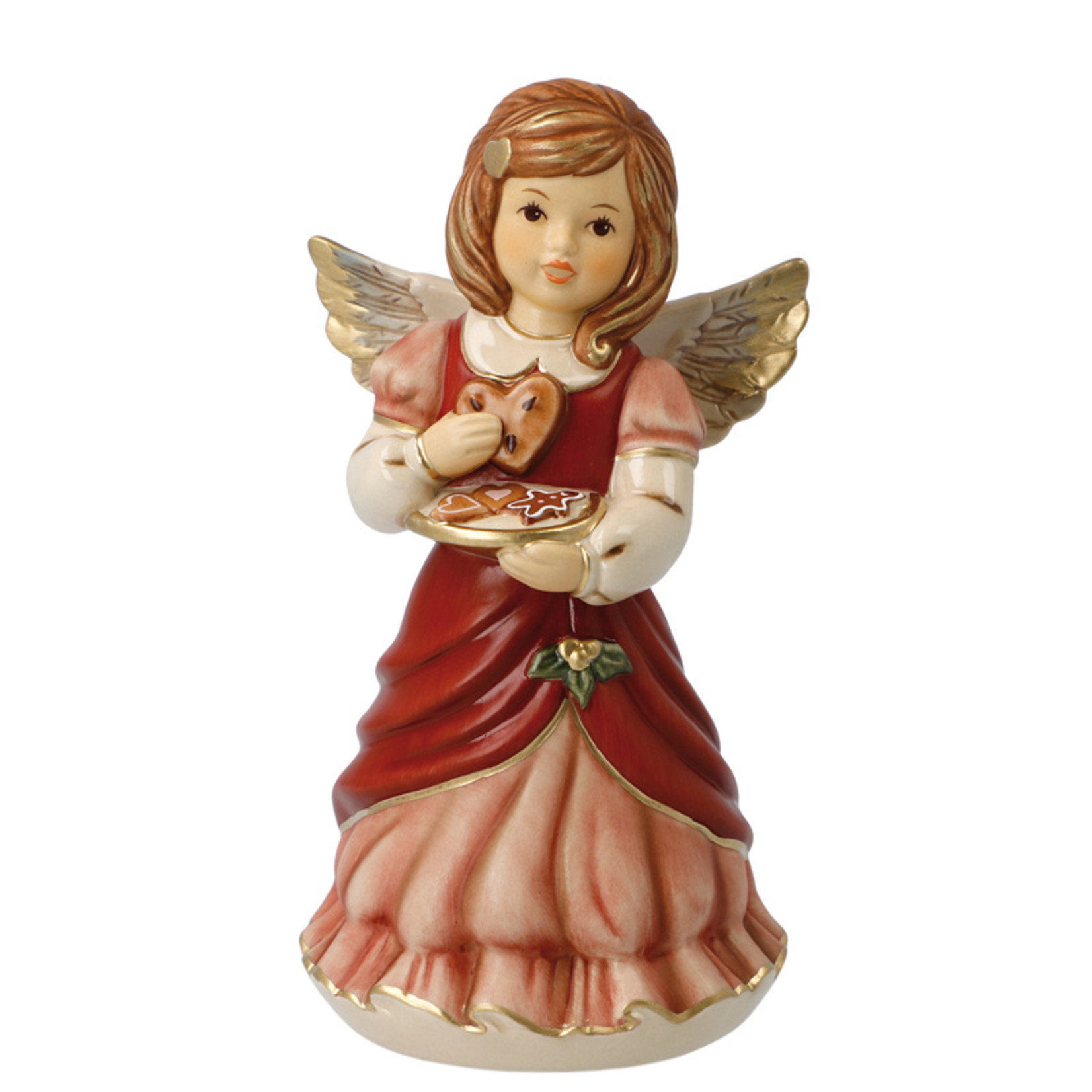 "Goebel Porzellanmanufaktur Engel ""Süße Leckereien"" mit Lebkuchen   bordeaux   Goebel Porzellan"