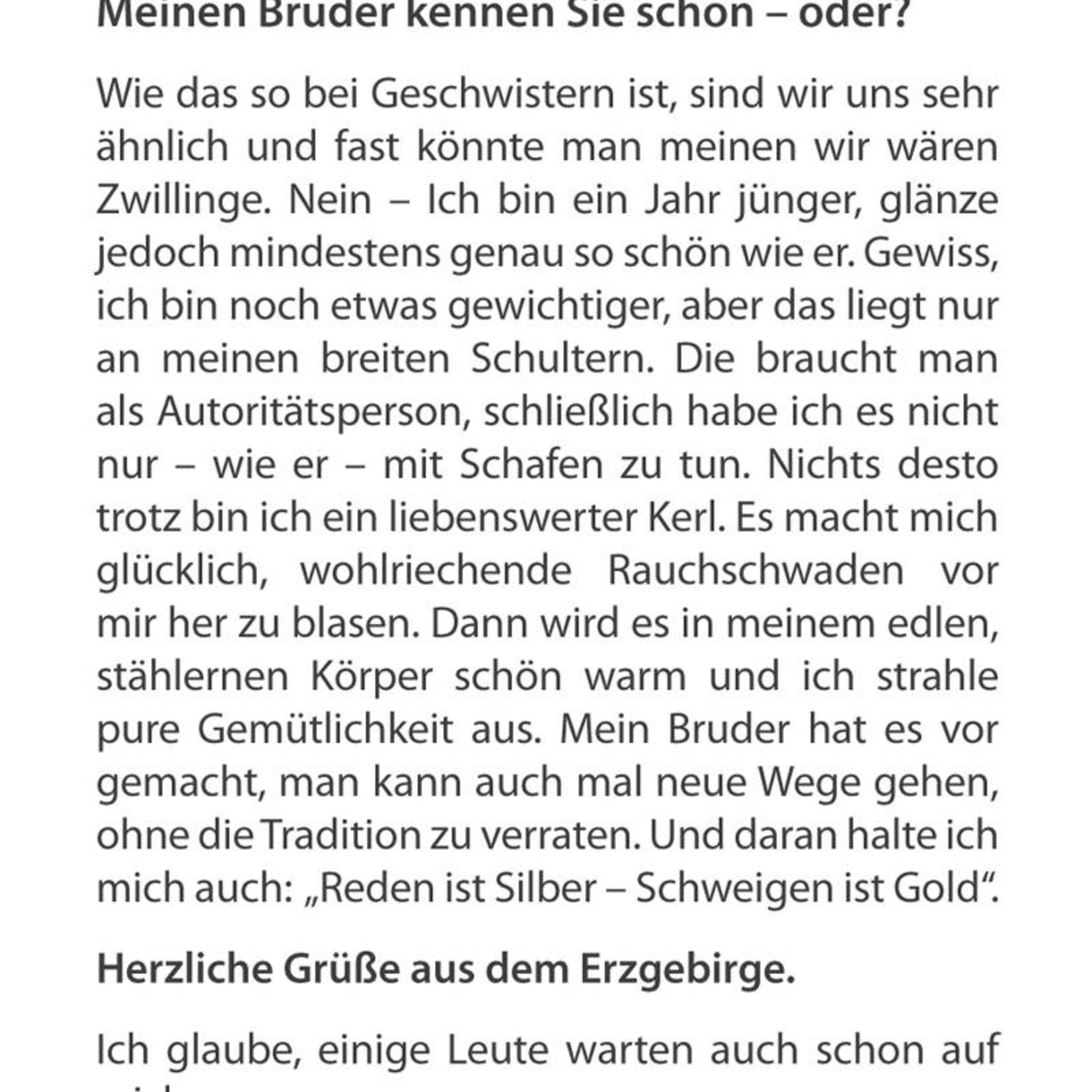 """Adamas Brass Räuchermann """"Der Wächter"""" I Edelstahl I Erzgebirge"""