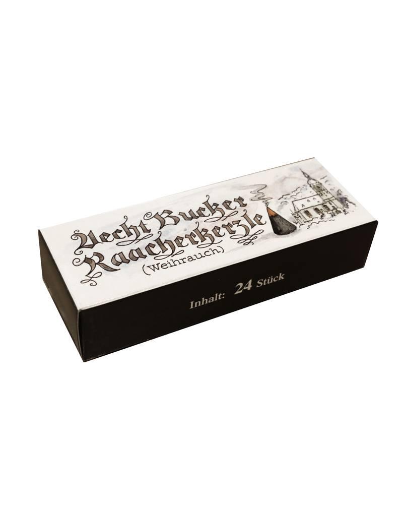 Adamas Brass Echt Bockauer Räucherkerzen, 24 Stück, Duft: Weihrauch